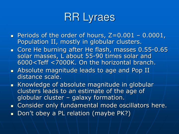 RR Lyraes