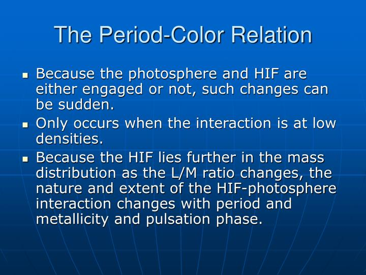 The Period-Color Relation