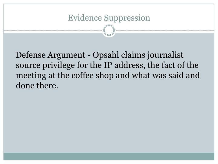 Evidence Suppression