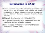 introduction to ga 2