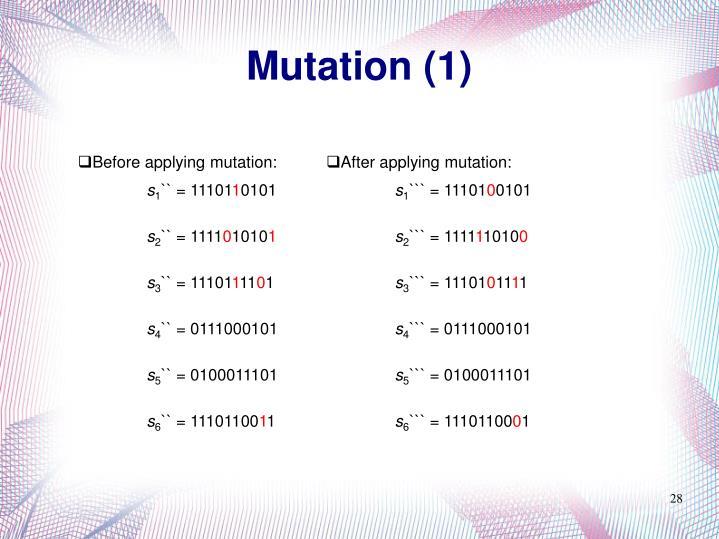 Mutation (1)