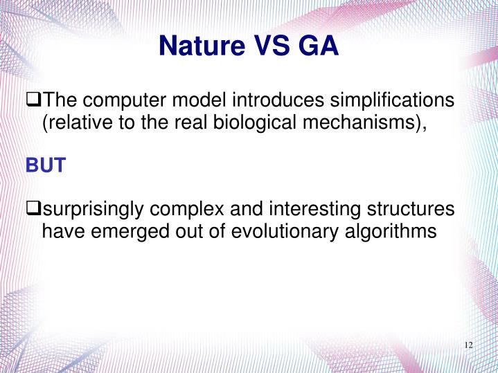Nature VS GA