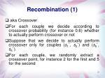 recombination 1