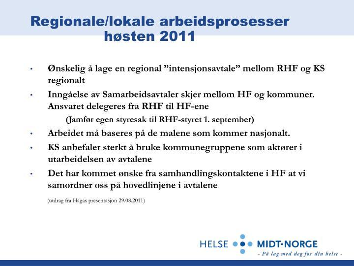Regionale/lokale arbeidsprosesser