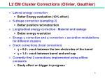 l2 em cluster corrections olivier gauthier