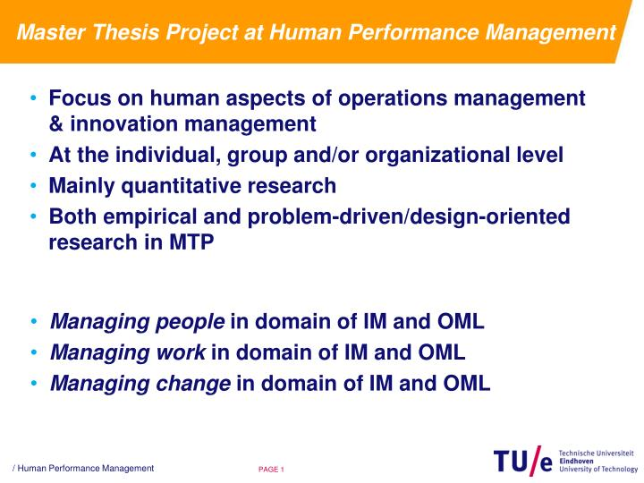 thesis on performance management system
