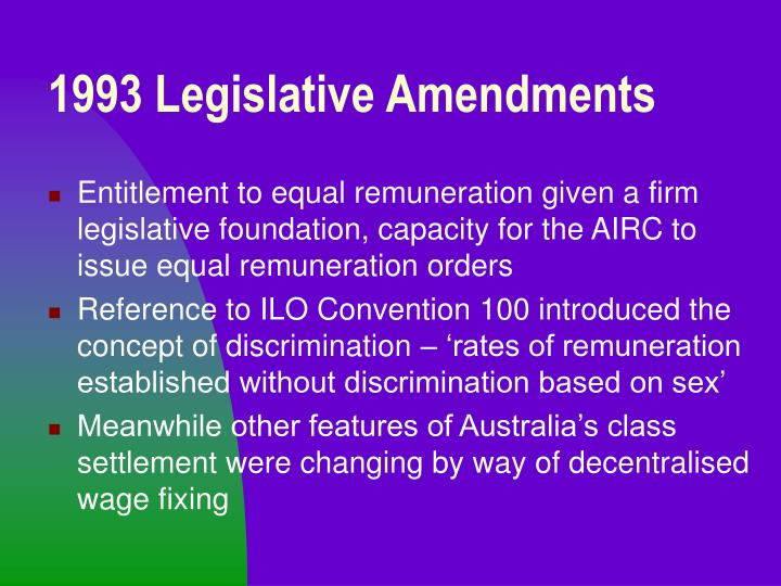 1993 Legislative Amendments
