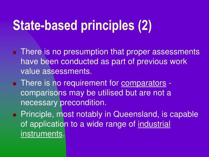 State-based principles (2)