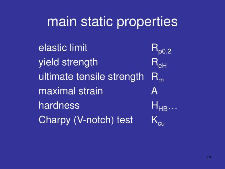 main static properties