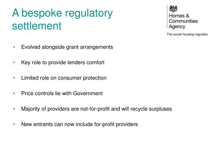 A bespoke regulatory settlement