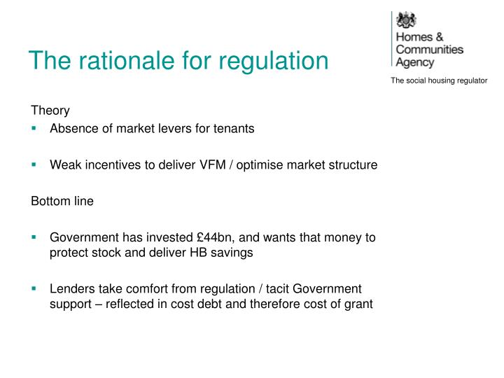 The rationale for regulation