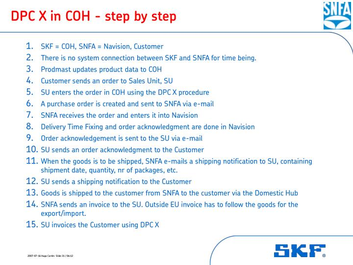 DPC X in COH - step by step