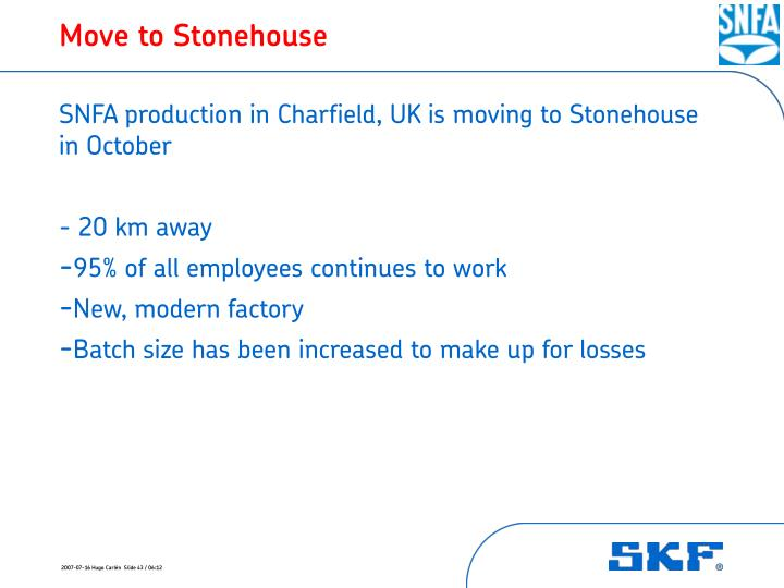 Move to Stonehouse