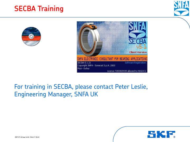 SECBA Training