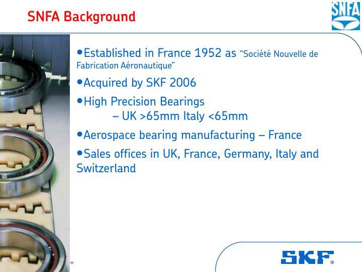 SNFA Background