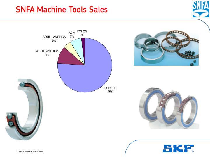 SNFA Machine Tools Sales