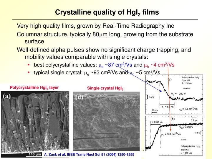 Polycrystalline HgI