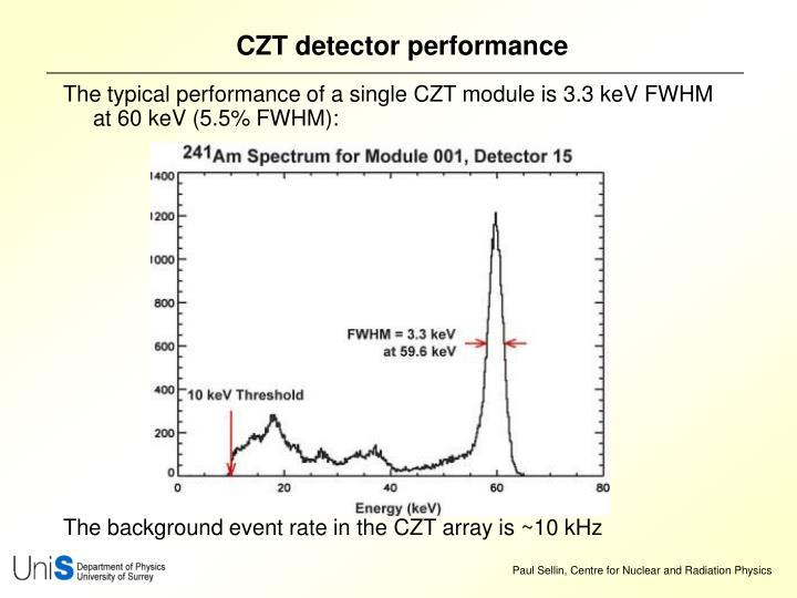 CZT detector performance