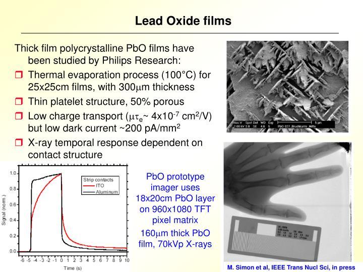 Lead Oxide films