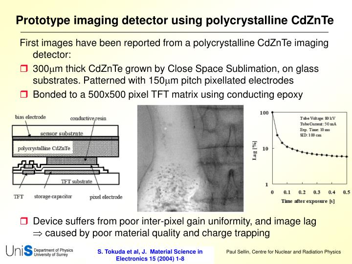 Prototype imaging detector using polycrystalline CdZnTe