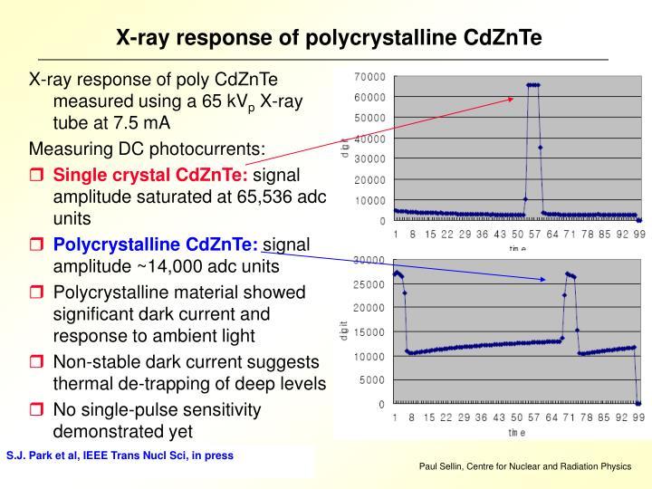 X-ray response of polycrystalline CdZnTe