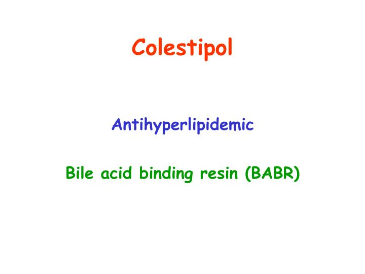 Colestipol