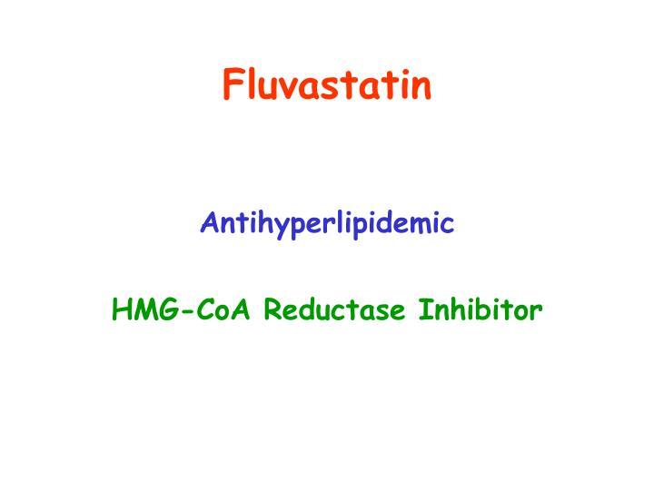 Fluvastatin
