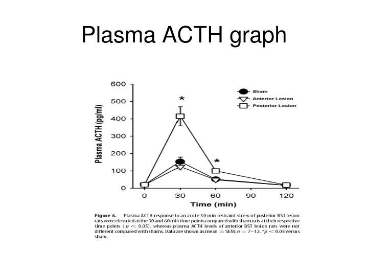 Plasma ACTH graph