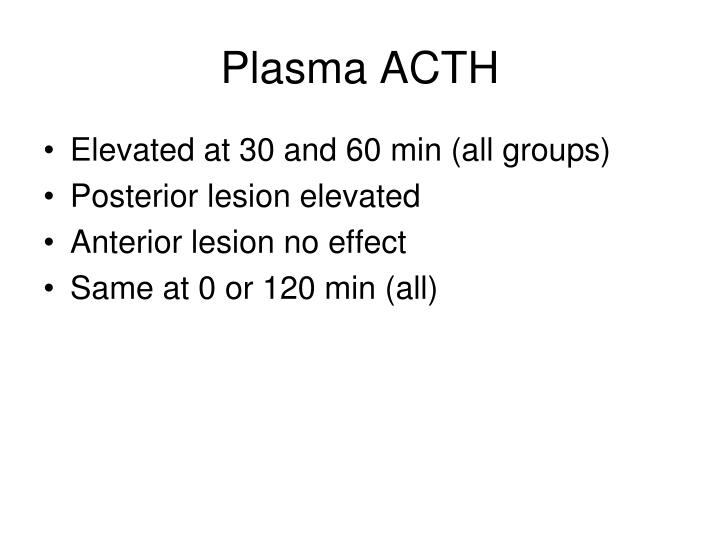 Plasma ACTH