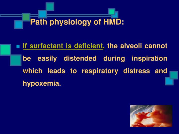 Path physiology of HMD: