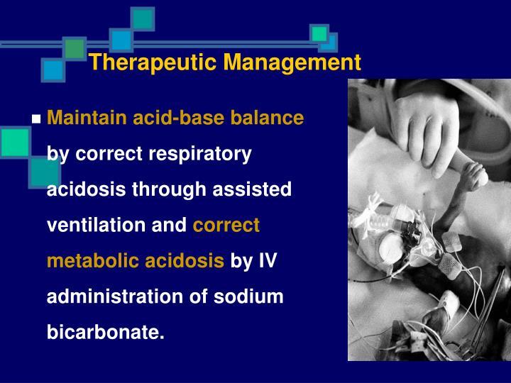 Therapeutic Management