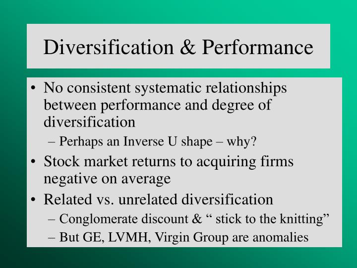 Diversification & Performance
