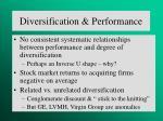 diversification performance