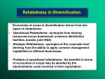relatedness in diversification