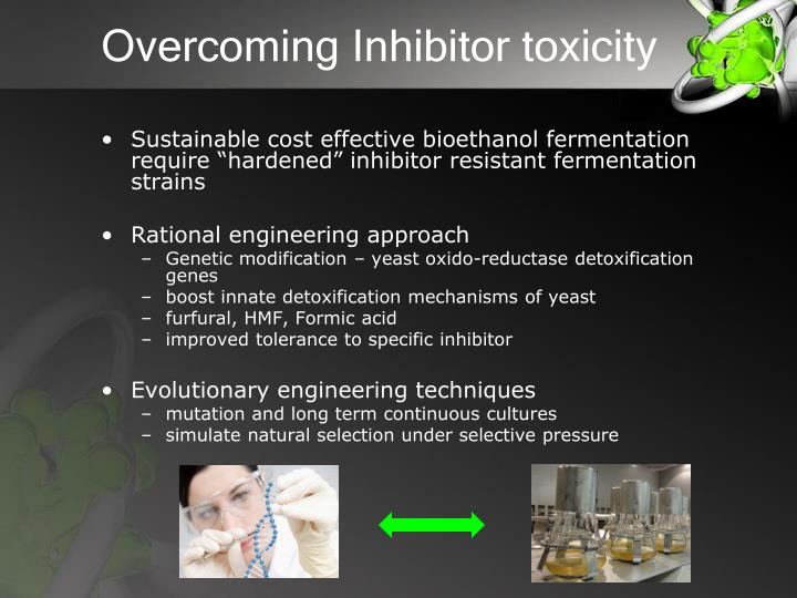 Overcoming Inhibitor toxicity