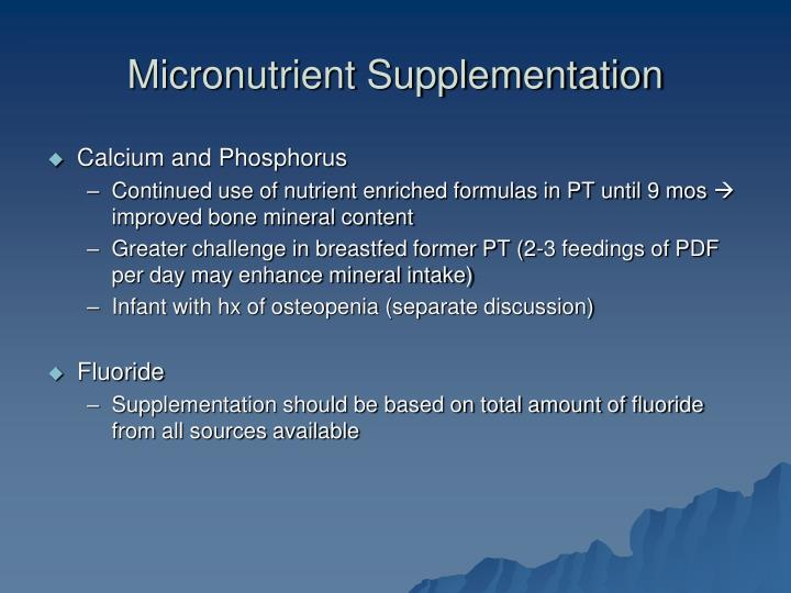 Micronutrient Supplementation