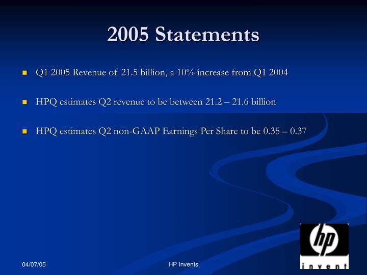 2005 Statements