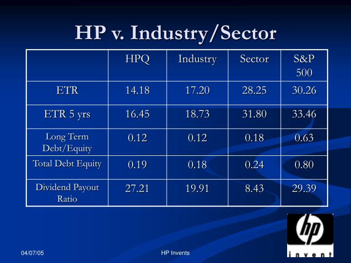 HP v. Industry/Sector
