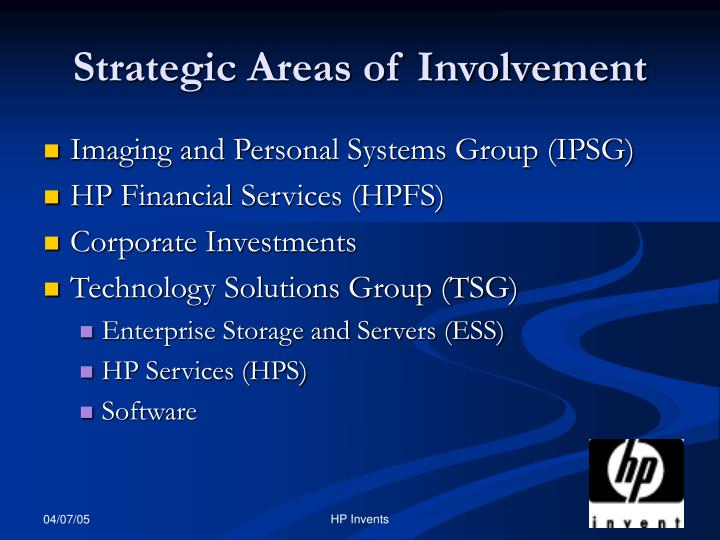 Strategic Areas of Involvement