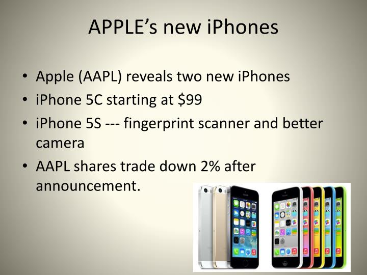 APPLE's new iPhones