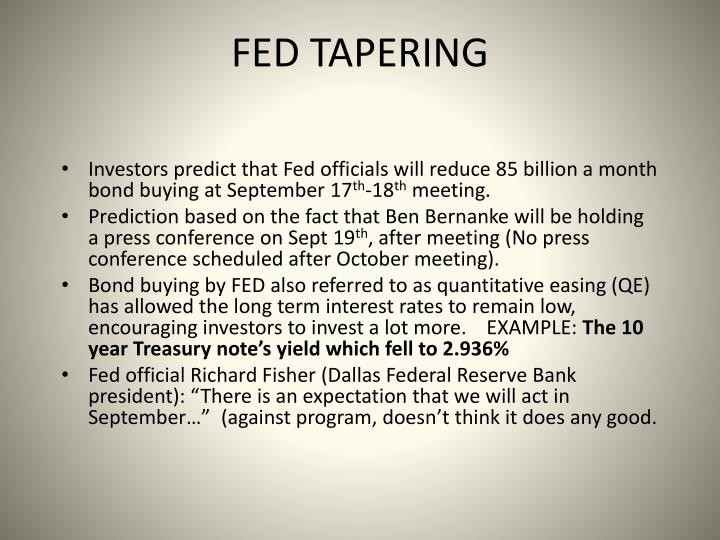 FED TAPERING