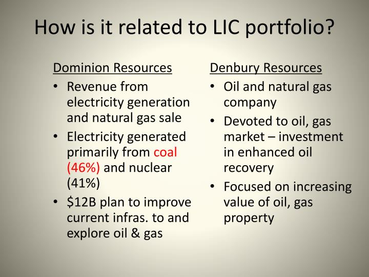 How is it related to LIC portfolio?