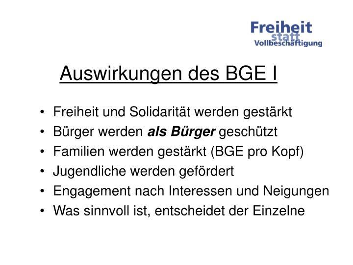 Auswirkungen des BGE I