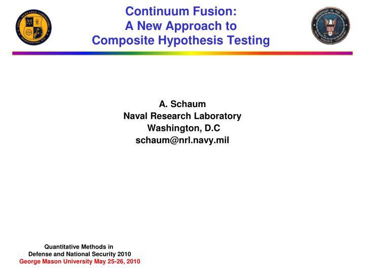 Continuum Fusion: