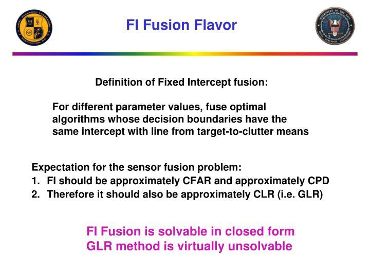 FI Fusion Flavor