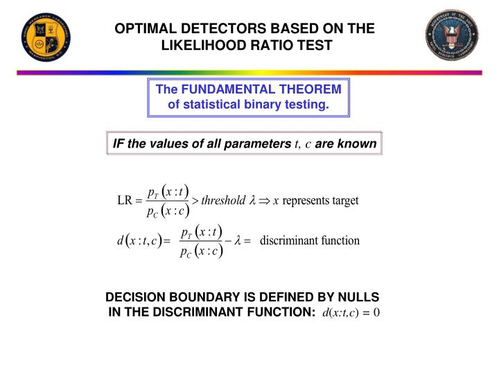 OPTIMAL DETECTORS BASED ON THE