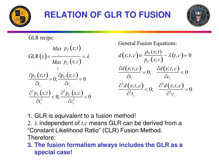 RELATION OF GLR TO FUSION