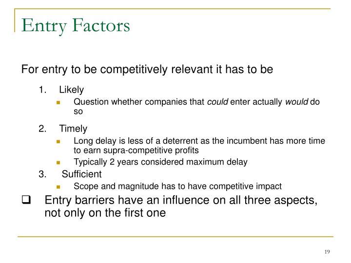 Entry Factors
