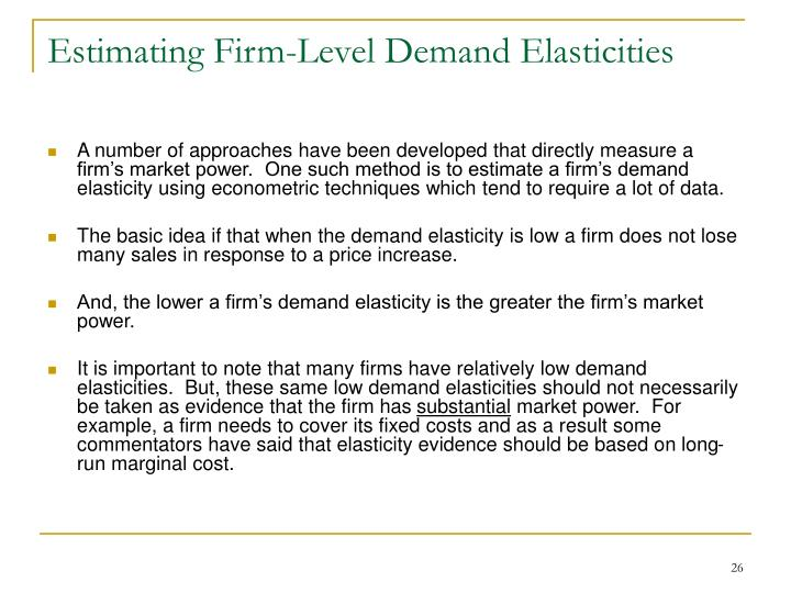 Estimating Firm-Level Demand Elasticities