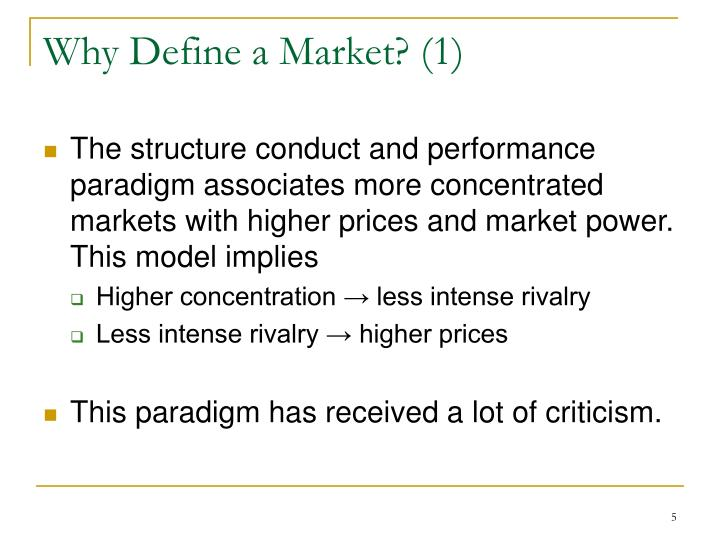 Why Define a Market? (1)